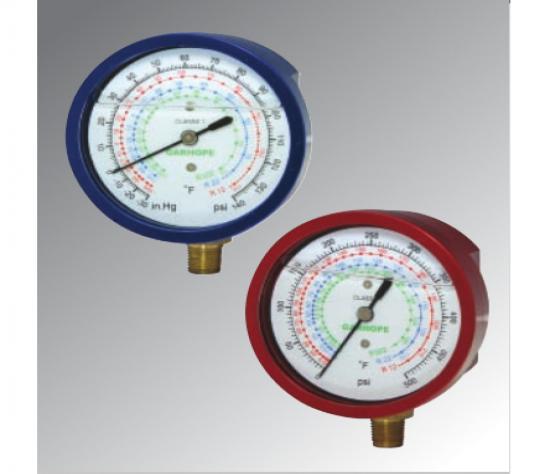 波纹管充油制冷表 Preventing over pressure gauge