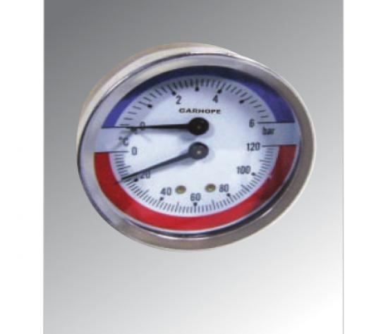 温度压力表 轴向