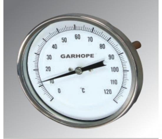 双金属温度计 标准型 轴向